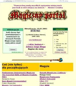 CzaryMary w 2003 roku