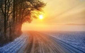 drzewa-zima-zachod-slonca-droga-zakret-1