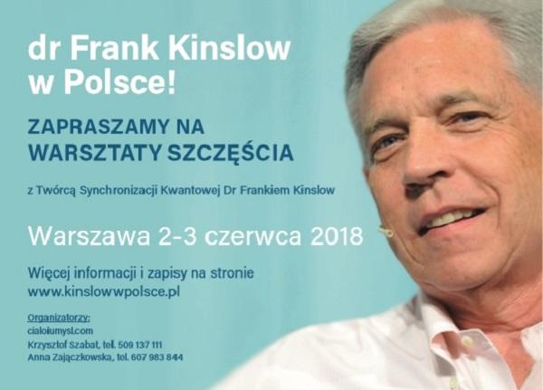 Warsztaty Szczęścia dr Franka Kinslowa 2-3 czerwca 2018 r. w Warszawie